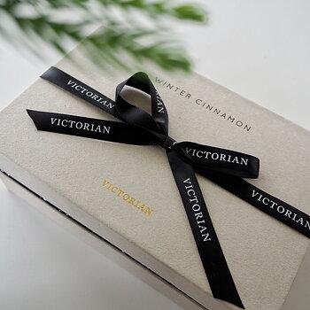 Box med Doftljus & Doftspridare Winter Cinnamon Beige - Victorian