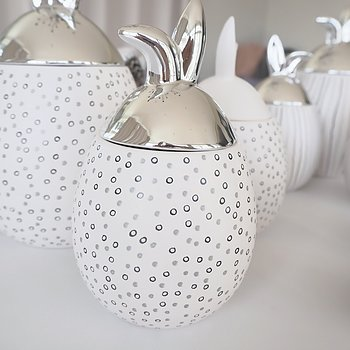 Rabbit Jar Liten PRICKIG SILVER - Majas Cottage