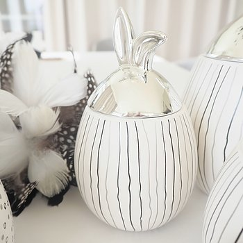 Rabbit Jar  Liten RANDIG SILVER - Majas Cottage
