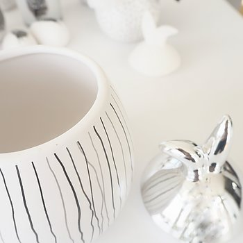 Rabbit Jar Stor RANDIG SILVER - Majas Cottage
