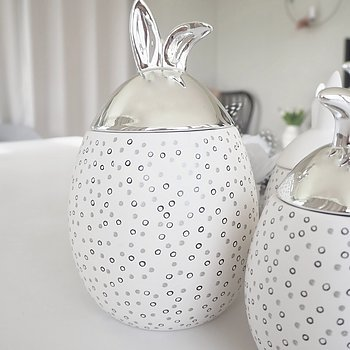 Rabbit Jar Stor PRICKIG SILVER - Majas Cottage