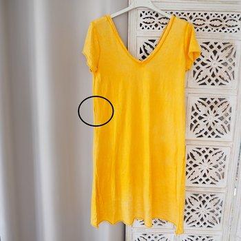 ANDRASORTERING Kort T-shirtklänning Liten One Size GUL - Stajl Agenturer