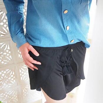 Shorts Nice Satin Svart (två storlekar) - Daily Elegance