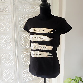 T-shirt NINJA Svart/Guld (flera storlekar) - Mix By Heart
