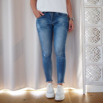 Jeans med fransar DENIM (flera storlekar) - Place du Jour