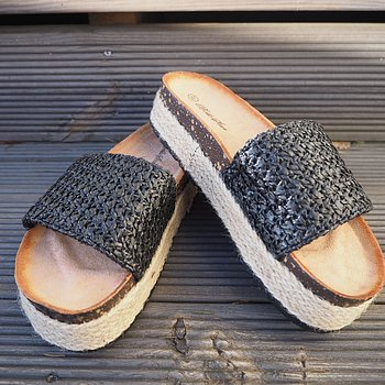 Sandal SVART - Train of Trend