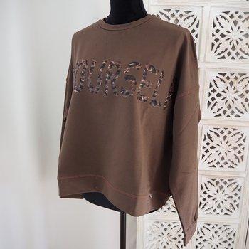 Sweatshirt med tryck Over Size BROWNIE (flera storlekar) - Ajlajk