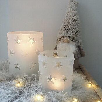 Ljuslykta Frost & Stars (två storlekar) - Majas Cottage