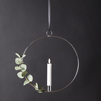 Inomhusdekoration FLAMME Ring Silver - Star Trading