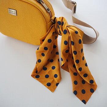 Scrunchy med scarf Cindy Dot (två färger) - Pipol´s Bazaar