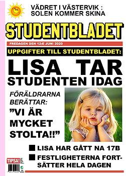 Studentskylt Löpsedel