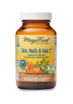 MegaFood Skin, Nails, & Hair 2™ 60 tabletter