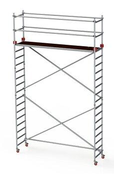 Jumbo rullställning smal 74 cm. Ståhöjd 4,2 meter Arbetshöjd 6,2 meter