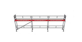 Modulställningspaket 3 (9x4m) med Dubbelräcke