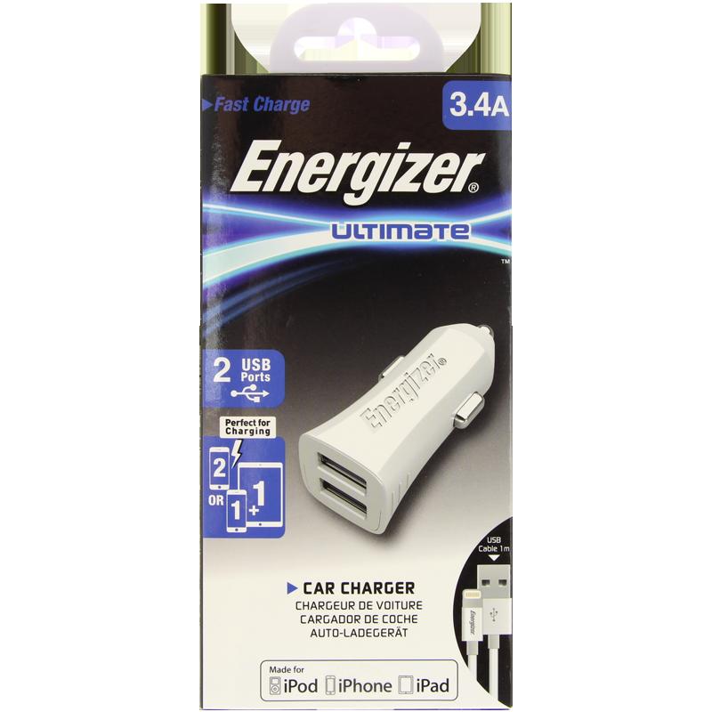 ENERGIZER HIGHTECH IPHONE 5 X 2USB BILLADDARE 3.4 AMP.