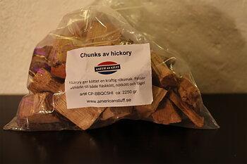 Rökträ- chunks av hickory