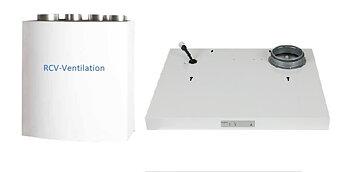 RDKS Paket Högeranslutning  med Streamline kåpa/ Frontlucka  vit 600 mm