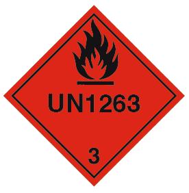 Advarselsetikett UN 1263