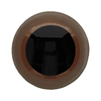 Ögon 10mm Bruna