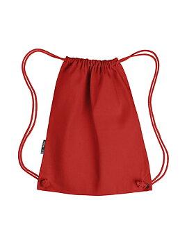 Twill Gym Bag, Red, Neutral, Fairtrade & EKO (Ny färg 2020)