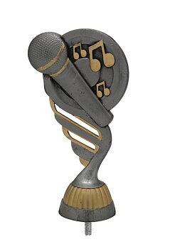Musik Statyett Antik/silver - ca 165 mm - Sockel & Skylt med text ingår i priset