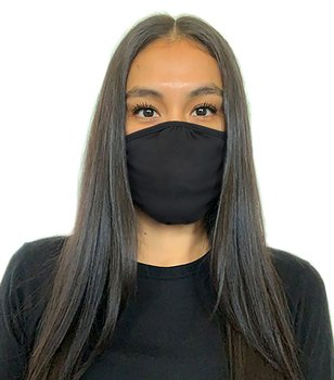 Next Level Eco Performance Face Mask, Black, One Size - 2-Pack
