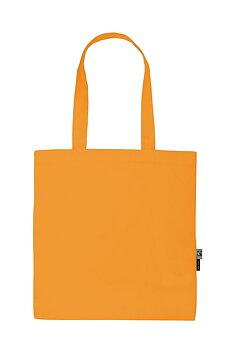 Bomullskasse Shopping med långt handtag, Okay Orange, Neutral, Fairtrade & EKO (Ny färg 2020)