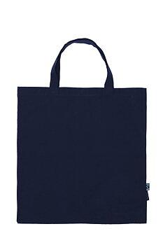 Shopping Bag, Short Handles, Navy, Neutral, Fairtrade & EKO (Ny färg 2020)