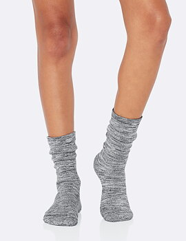 Women's Chunky Bed Socks, Dove/Storm Space Dye, Boody Bamboo Eco Wear, Ekologisk - Storlek 34-40