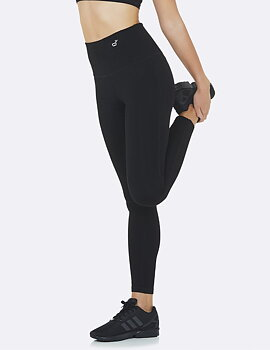 High Waisted Full Active Tights, Black, Boody Bamboo Eco Wear, Ekologisk