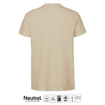 T-shirt Fitted, Herr, Sand, Neutral, Fairtrade & EKO