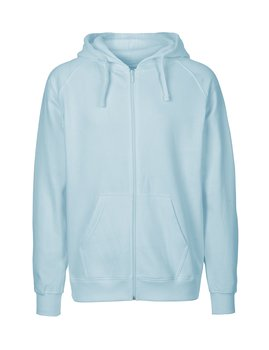 Mens zip Hoodie, Light Blue, Neutral, Fairtrade & EKO (Ny färg 2020)