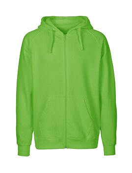 Mens zip Hoodie, Lime Green, Neutral, Fairtrade & EKO (Ny färg 2020)