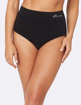 Women's Full Briefs Underwear, B lack, Boody Bamboo Eco Wear, Ekologisk