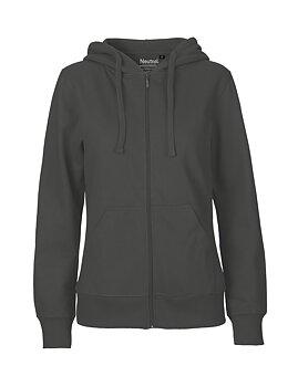 Ladies zip Hoodie, Charcoal, Neutral, Fairtrade & EKO (Ny färg 2020)