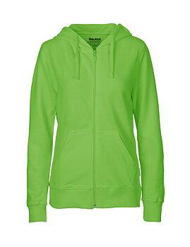 Ladies zip Hoodie, Lime, Neutral, Fairtrade & EKO (Ny färg 2020)