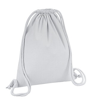 Organic Premium Cotton Gymsac, Light Grey, Westford Mill, EKO