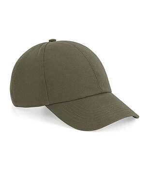 Organic Cotton 6 Panel Cap, Olive Green, Beechfield, EKO