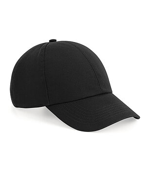 Organic Cotton 6 Panel Cap, Black, Beechfield, EKO