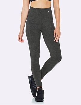 High Waisted Full Active Tights, Dark Grey, Boody Bamboo Eco Wear, Ekologisk