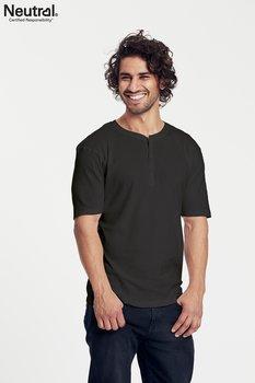 Farfarströja kortärmad T-shirt, Herr, Svart, Neutral, Fairtrade & EKO