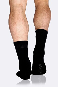 Men's Work/Boot Socks, Svart, Boody Bamboo Eco Wear, Ekologisk  - Storlek: 39-45
