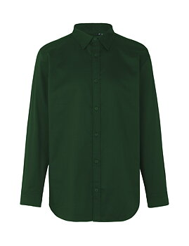 Mens Twill Shirt, Neutral, Bottle Green, Fairtrade & EKO
