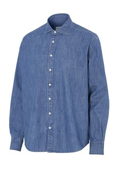Jeansskjorta Komfort långärmad, Cottover, Herr, Denim, Fairtrade, EKO & GOTS