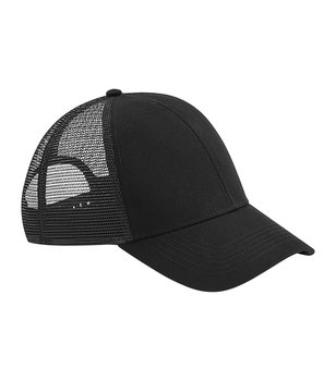 Organic Cotton Trucker, Black, Beechfield, EKO