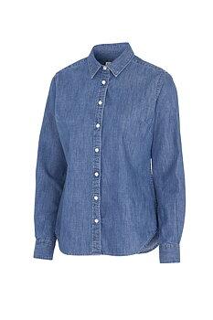 Jeansskjorta långärmad, Cottover, Dam, Denim, Fairtrade, EKO & GOTS