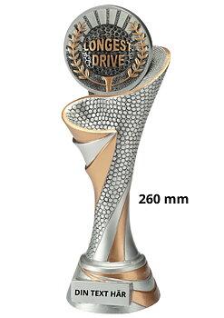 Longest Drive statyett Blaze 2.0 - 260 mm - Inklusive skylt med text