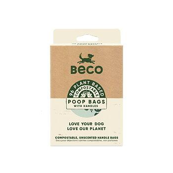 Bajspåse Nedbrytbar med handtag 96-p Beco
