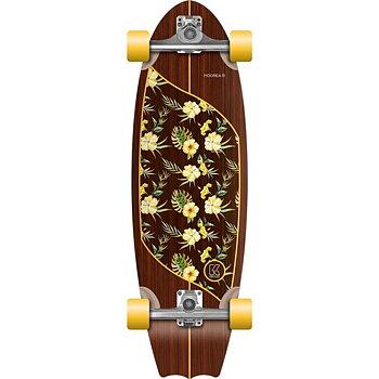 KRUUZE Surf Skateboard 31 Moorea Plumeria Stir
