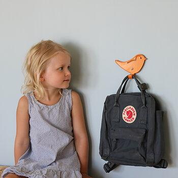 Väggkrok fågel orange